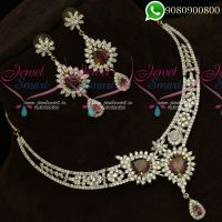 Diamond Finish Imtiation Jewellery CZ Stones Gold Silver Plating