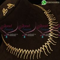 Gold Catalogue Design American Diamond Jewellery Set