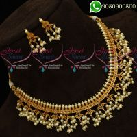 Gutta Pusalu Pearl Jewellery Short Necklace Traditional South Indian Designs Online