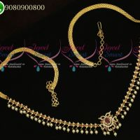Hip Chains Designs Gold Plated AD Stones Fashion Jewellery
