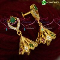 Jhumkas Gold Plated Jewellery Screwback South Indian Designs