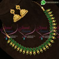 Kemp Green Jewellery Mango Design Traditional Model Imitation