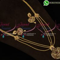 Haram Long Necklace Gold Plated Jewellery Designs Online