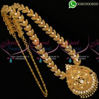 Long Necklace Haram Gold Plated Jewellery Design