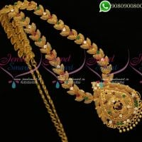 Long Necklace Gold Plated Traditional Design