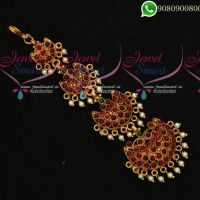 Maang Tikka Gold Traditional Step Design Online