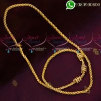 Mugappu Chains Kodi Model Design Gold Plated Jewellery Murukku Twisted