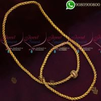 Mugappu Chains Thali Kodi Ball Design Gold Plated Jewellery Murukku Twisted