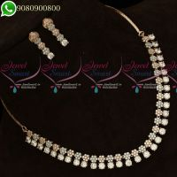 Rose Gold Silver Plated Diamond Finish Jewellery Set Delicate High Quality Stones