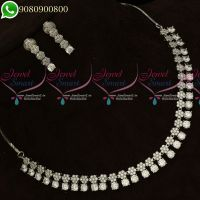Silver Plated Diamond Finish Jewellery Set Delicate High Quality Stones