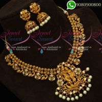 Temple Jewellery Lord Krishna Design Traditional Necklace