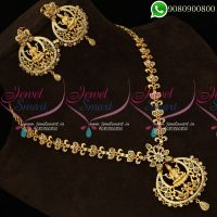 Temple Jewellery Polki Stones Gold Design Catalogue