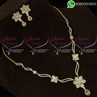 American Diamond Imitation Jewellery Set Designs Online Shopping