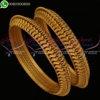 Antique Bangles Plain Matte Finish Gold Tone Simple Design Online