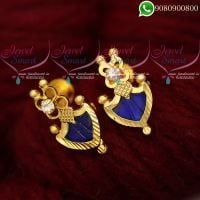 Ear Studs For Women Blue Palakka Model Kerala Jewellery