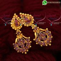 Earrings Online Ruby Stones Jewellery Matching Designs