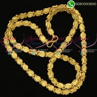 South Indian Gold Plated 24 Inches Daily Wear Chain Artificial Jewellery