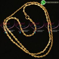 Godhumai Chain Design Gold Plated 30 Inches Chain Artificial Jewellery