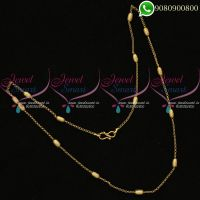 Capsule Chain Gold Plated Thin Fancy Imitation Artificial Jewellery