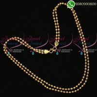 Ball Chain Gold Plated 2 Strand Fancy Imitation Artificial Jewellery