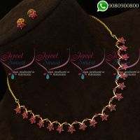 Ruby Jewellery Set Low Price Fashion Necklace Design
