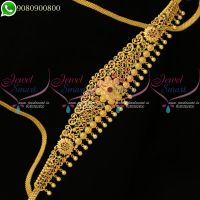 Bridal Jewellery Hip Chains Gold Plated South Indian Designs