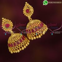 Jhumkas Gold Plated Latest Imitation Jewellery Collections Online