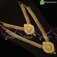 Long Necklace Set For Sarees Combo Jewellery Set