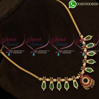 Gold Covering Necklace Kerala Style Palakka Jewellery Models