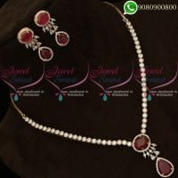 Rose Gold Diamond Finish Jewellery Set Delicate High Quality Stones
