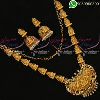 Temple Jewellery Nagas Lakshmi God Design Necklace Set