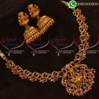 Temple Jewellery Jhumka Low Price Necklace Set Online
