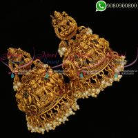 Temple Jewellery Jhumkas Traditional Bridal Lakshmi Nagas