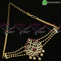 Vanki Beads Chain American Diamond Bridal Jewellery Designs Online