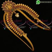Vanki Gold Design Bajuband Temple Jewellery Bridal Designs