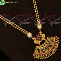 Beads Chain Pendant Set Low Price Traditional South Indian Jewellery