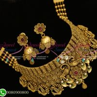 Choker Necklace Antique Gold Plated Bridal Fashion Jewellery Online