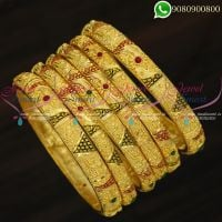 Forming Gold Jewellery 6 Pieces Set Bangles Latest Designs