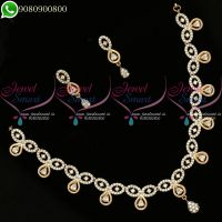 Rose Gold Plated Necklace Latest Diamond Design Jewellery Collections Online