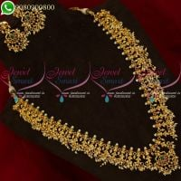 Gutta Pusalu Long Necklace Pearl Jewellery Traditional South Indian