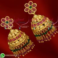 Jhumkas Gold Plated New Design Crystal Jewellery Online