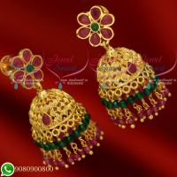 Jhumkas Gold Plated Fancy Design Imitation Jewellery Crystal Online