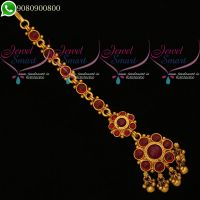 Kemp Red Jewellery Maang Tikka Traditional Bridal Jewellery Latest