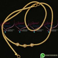 Ball Mugappu Chains Gold Model White Stone Thali Kodi Roll Online