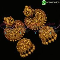 Nagas Jewellery Jhumka Earrings Big Size Handmade Bridal Online