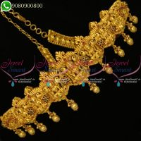 One Gram Gold Jewellery Temple Laxmi God Design Vaddanam Bridal Collections Online