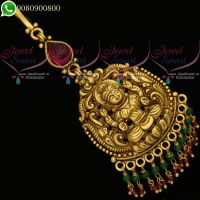 Temple Jewellery Maangtikka Gold Finish Antique Traditional Designs
