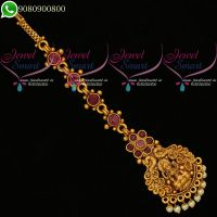 Temple Jewellery Bridal Maangtikka Nethichutti Traditional Collections