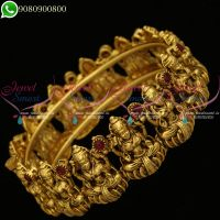 Temple Jewellery Nagas Laxmi God Design Kada Bangle Antique Screw Open