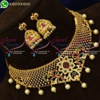 Choker Necklace Gold Design Imitation Jewellery New Collections